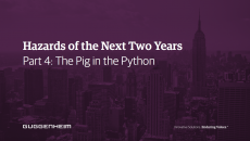 Hazards of the Next Two Years,  Part 4: The Pig in the Python