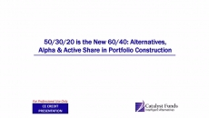 Alternatives, Alpha & Active Share in Portfolio Construction