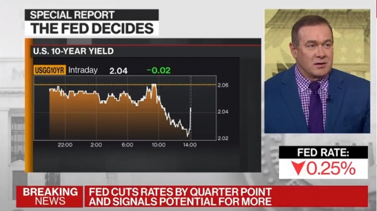 The First Fed Funds Rate Cut in Ten Years
