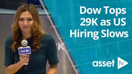 Dow Tops 29K as US Hiring Slows